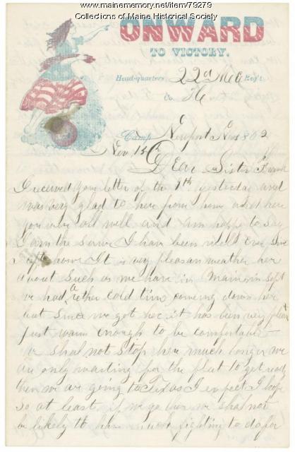 Sgt. Calvin Titcomb to family, Newport News, Va., 1862
