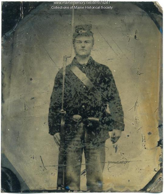 Pvt. John S. Longfellow, 24th Maine Infantry, ca. 1862