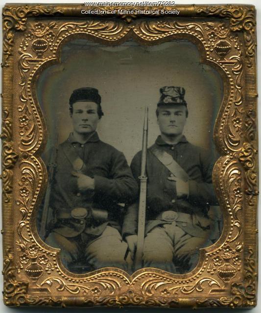 Horatio and John Longfellow, Cornville, ca. 1862