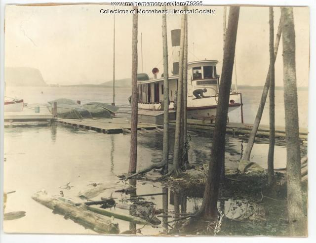 Priscilla Steamboat, Moosehead Lake, 1900
