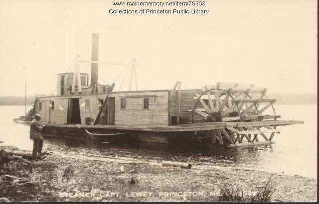 Captain Lewy steamboat, Princeton, ca. 1910