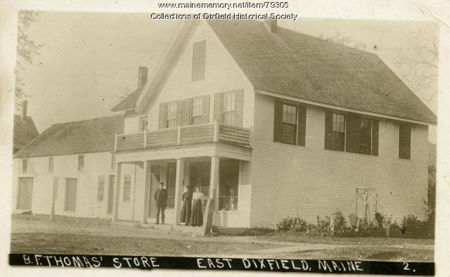 B.F. Thomas Store, East Dixfied, ca 1930