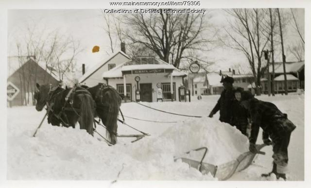 Plowing Roads, East Dixfield, 1936