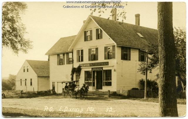 Butterfield's Store, East Dixfield , ca. 1910