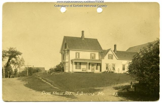 The Hall Farm Homestead, East Dixfield, 1935