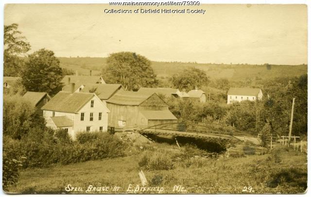 View of Seven Mile Stream, East Dixfield, ca.1910