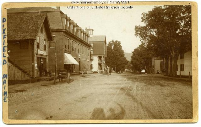 Main Street, Dixfield, ca. 1890