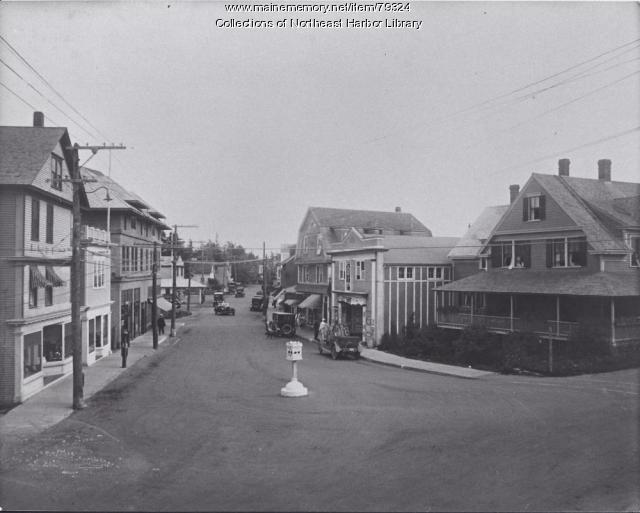 Main Street, Northeast Harbor, ca. 1917