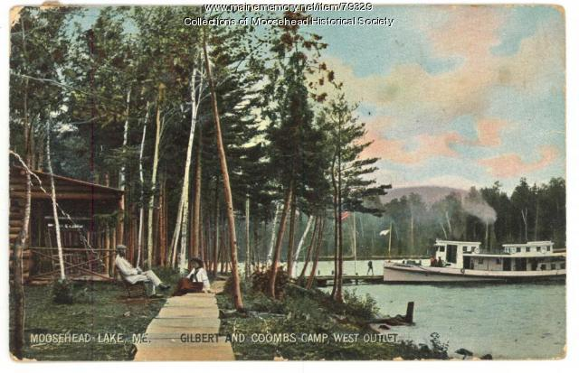 Gilbert & Coombs Camps, Moosehead Lake, ca. 1905