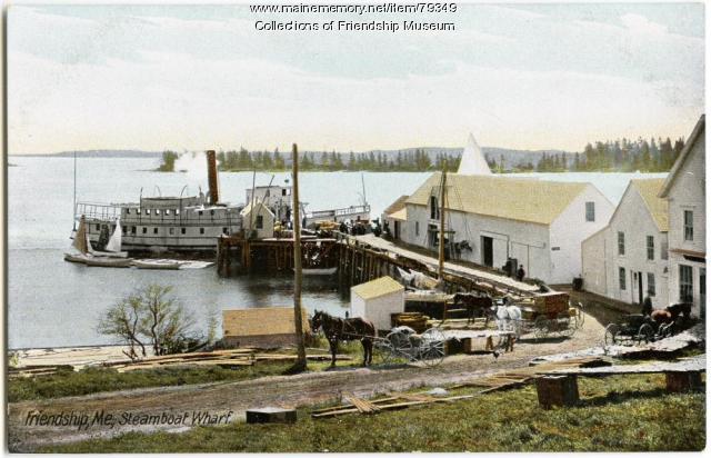 Friendship steamer wharf, ca. 1915