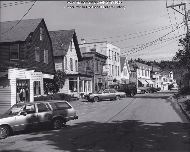 Main Street in Northeast Harbor, ca. 1980