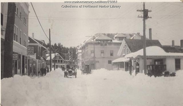 Main Street in Northeast Harbor, ca. 1930