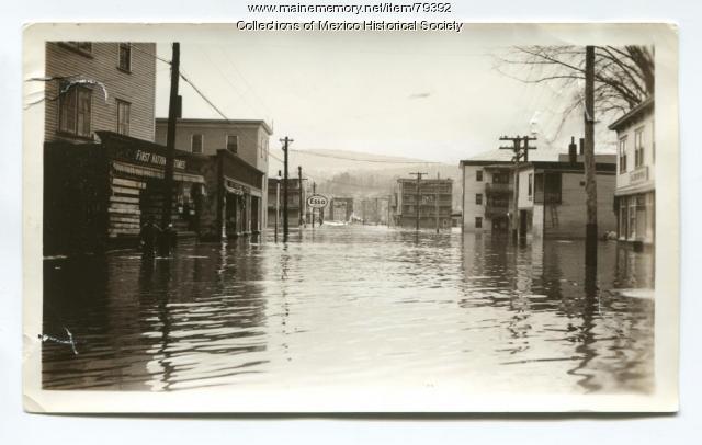 Flood on Bridge Street, Mexico, 1936