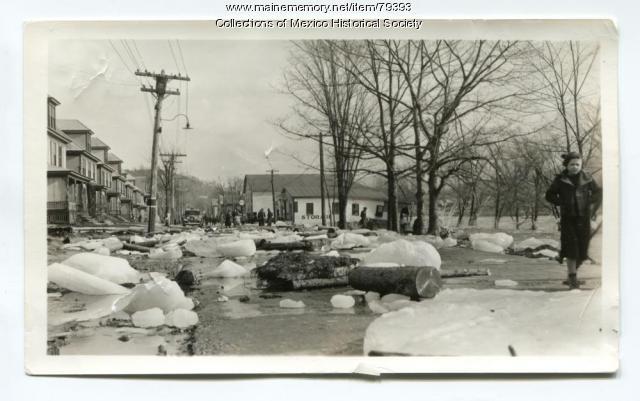 Flood on Main Street, Ridlonville, 1936