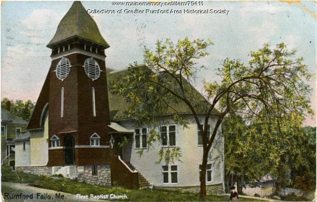 First Baptist Church, Rumford, ca. 1908