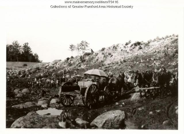 Mt. Zircon Reservoir construction, Rumford, 1913