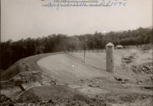 Completed Mt. Zircon Reservoir and Cabin, Rumford, 1914
