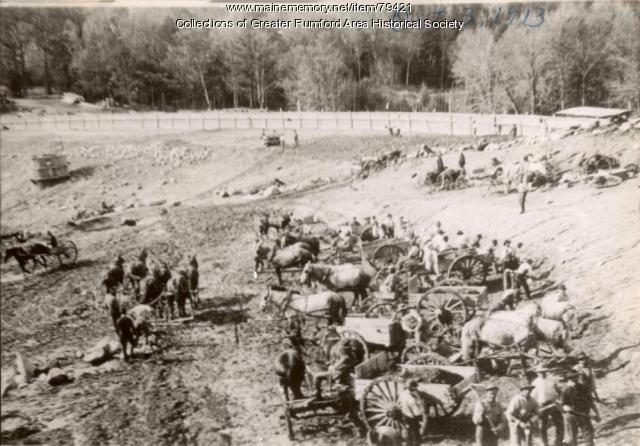 Clearing the Basin Zircon Reservoir, Rumford,  1913