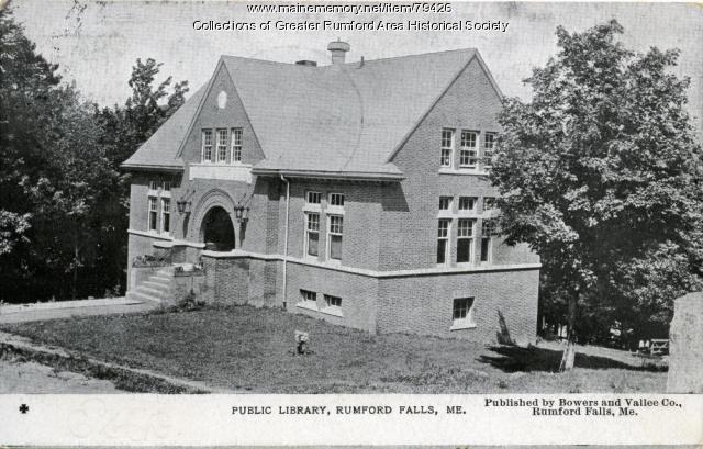 Rumford Public Library, Rumford, ca. 1948