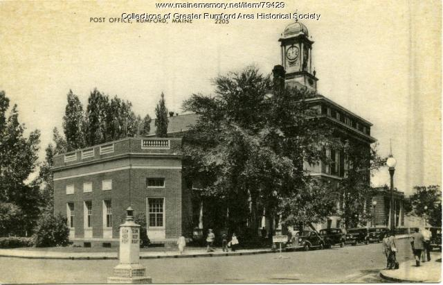 Rumford Post Office and Town Hall, ca. 1930