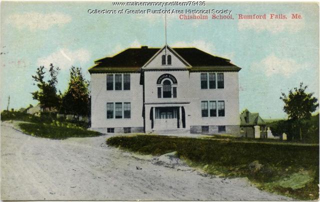 Chisholm School, Rumford, ca. 1912