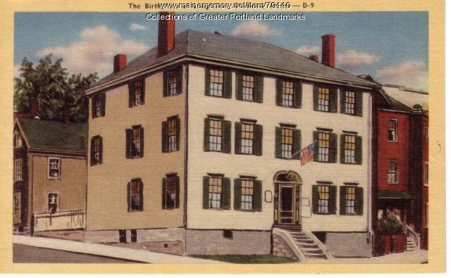 Birthplace of Longfellow, Portland, ca. 1909