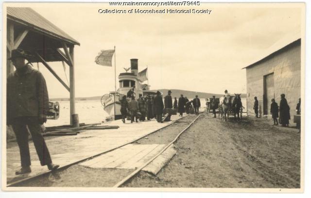 Steamer Louisa, Moosehead Lake, ca. 1920