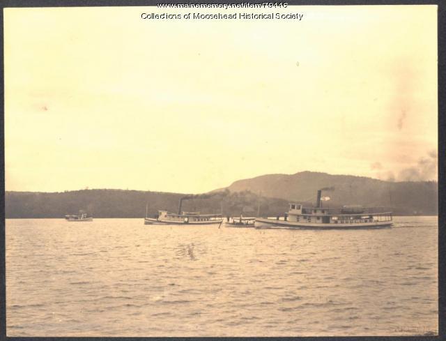 Steamboats on Moosehead Lake, 1901