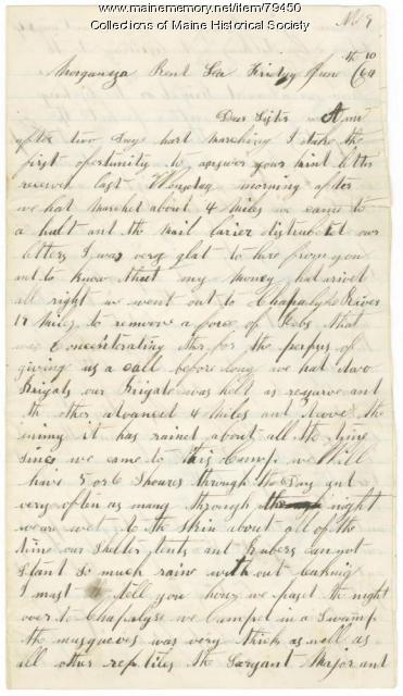 John Day to Annie Mathews from Louisiana, 1864