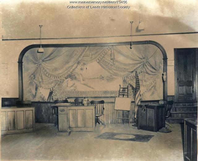 Leeds Grange Hall stage, 1975