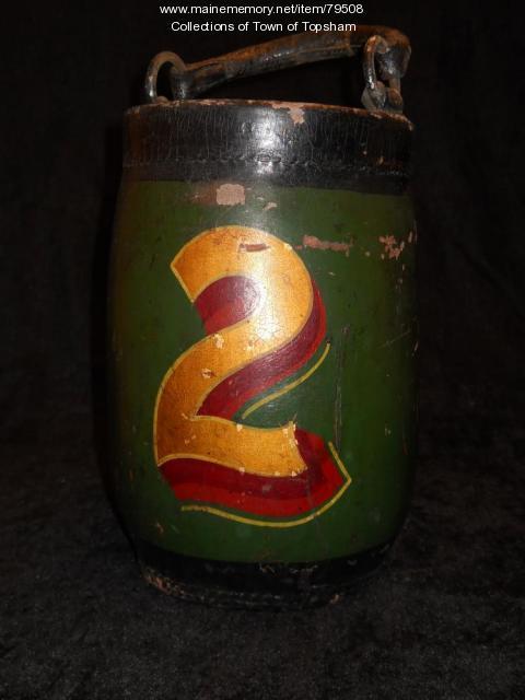 Fire Bucket from the Androscoggin No. 2, Topsham, 1850