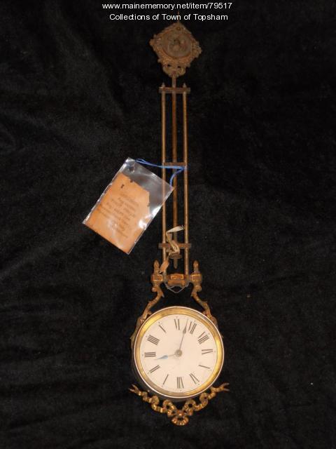 Prize clock, Androscoggin No. 2 muster, 1886