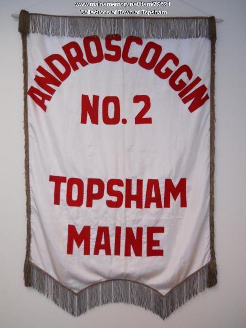 Androscoggin No. 2 banner, Topsham, 1920