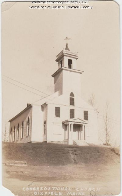 "The Congregational ""Church on the Hill,"" Dixfield, ca. 1935"