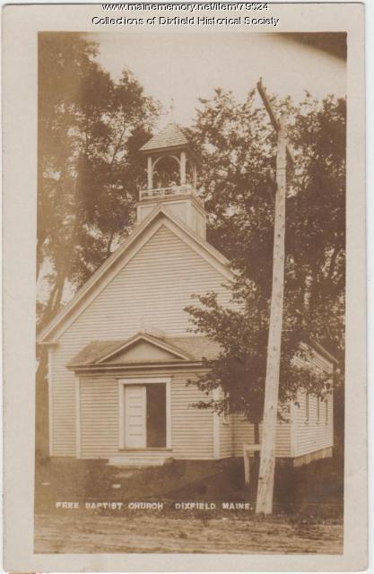 Dixfield Chapel, Dixfield, ca. 1909.