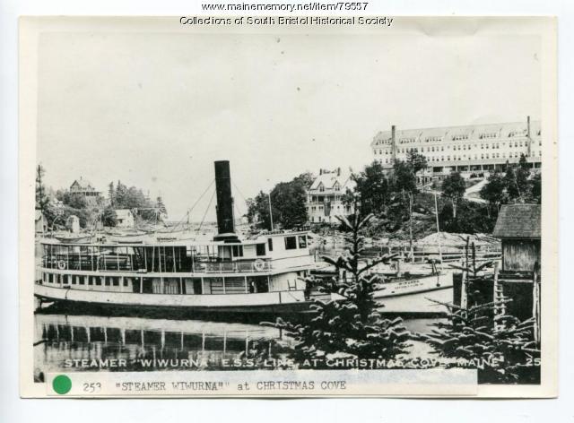 Steamer Wiwurna and Holly Inn, Christmas Cove, 1924