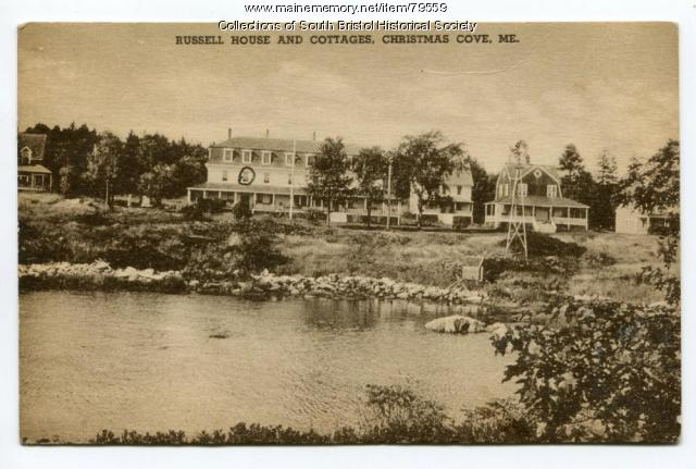 Russell House and cottages, Christmas Cove, ca.1936