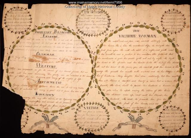 Sarah Lewis Merry's penmanship exercise, 1817