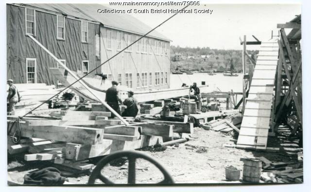 Minesweeper Construction at Gamage Shipyard, South Bristol, ca. 1942