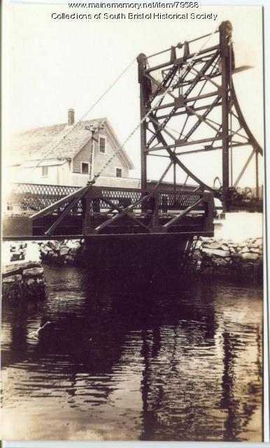 "Third bridge over the ""Gut,"" South Bristol, ca.1926"