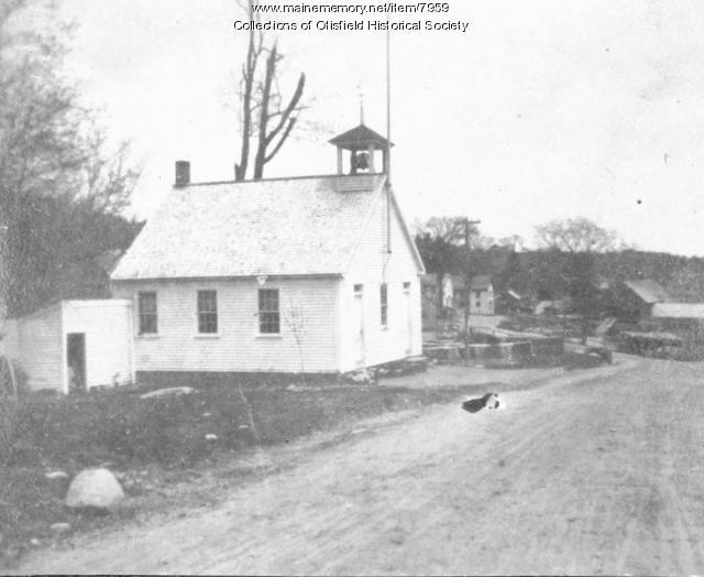 East Otisfield Schoolhouse and Sawmill, Otisfield, ca. 1900