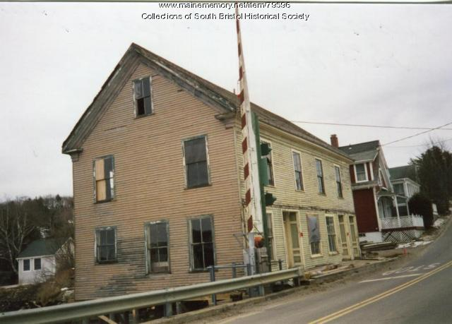 The bridge and the former Gray's Store, South Bristol, 1997