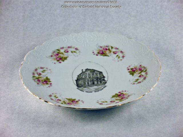 National House Hotel commemorate plate, Dixfield, ca. 1860