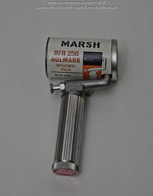Marsh Fountain Rolmark Ink Roller, ca. 1950