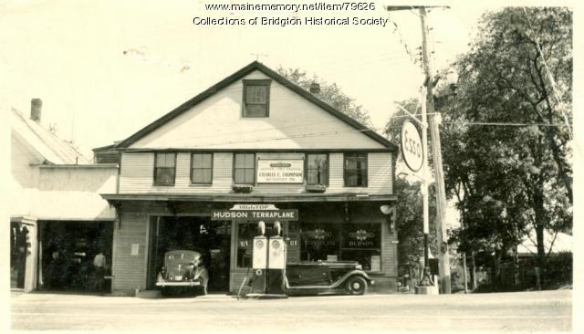 Charles E. Thompson Esso Station, 1-3 Maine Street, Bridgton, ca. 1938