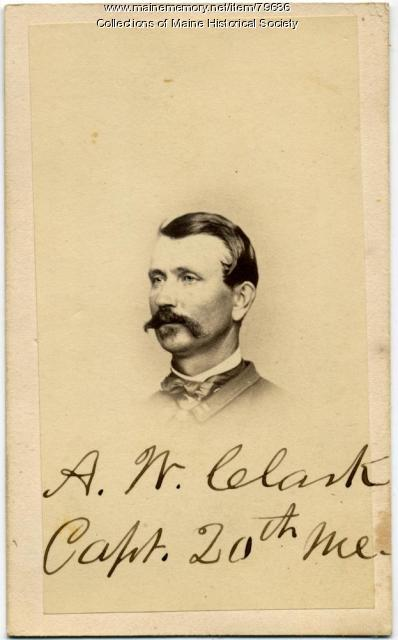 Capt. Atherton W. Clark, 20th Maine, ca. 1863