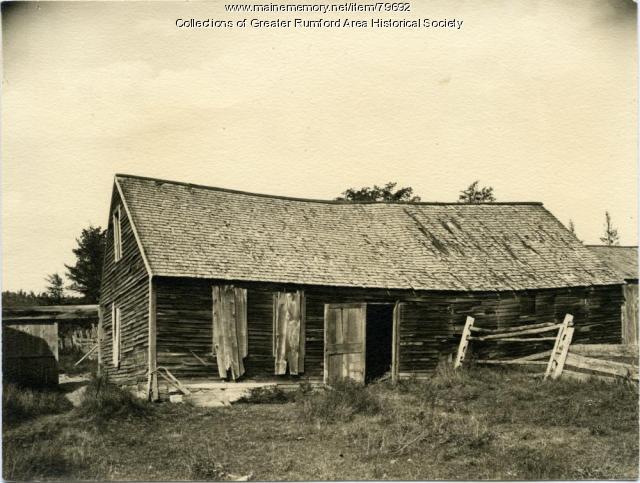 Jonathan Keyes Log Cabin, Rumford Corner, ca. 1900