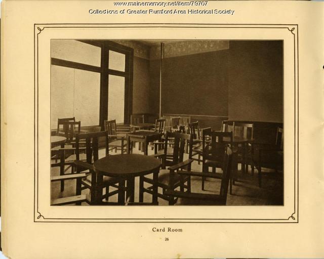 Mechanics Institute Card Room, Rumford, 1911