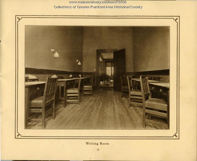 Writing Room, Rumford Mechanics Institute, 1911