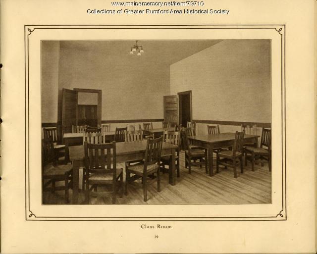 Classroom at Mechanics Institute, Rumford, ME. 1911